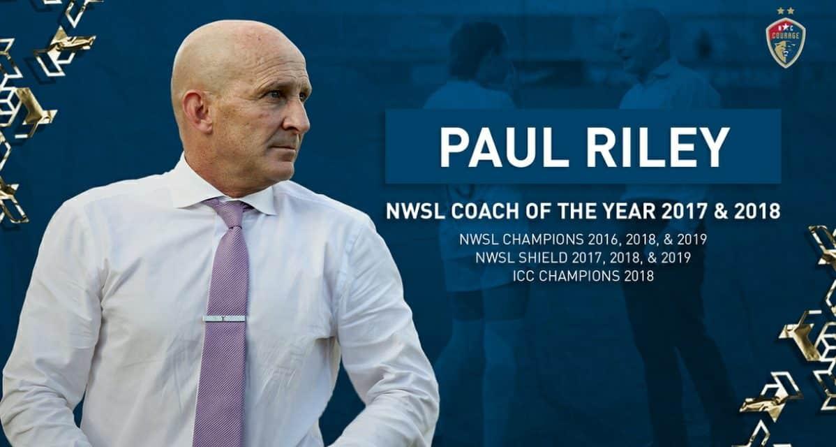 LIFE OF RILEY: Courage extend coach's contract through 2022