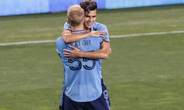 MAKING IT ALL RIGHT: Right back Tinnerholm scores winner, sets up insurance goal for NYCFC