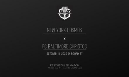 SOME OCTOBER ACTION: Cosmos to host FC Baltimore Christos in postponed match