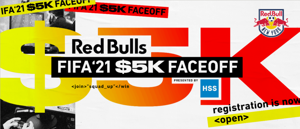 VIRTUAL TOURNAMENT: Red Bulls to host FIFA '21 Faceoff Oct. 8-10