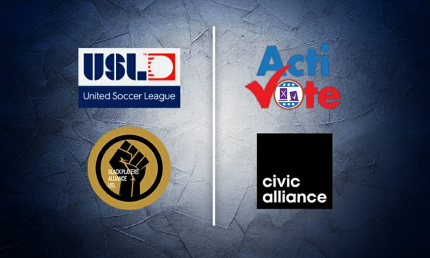 GETTING OUT THE VOTE: USL, USL Black Players Alliance team with Activote, Civic Alliance