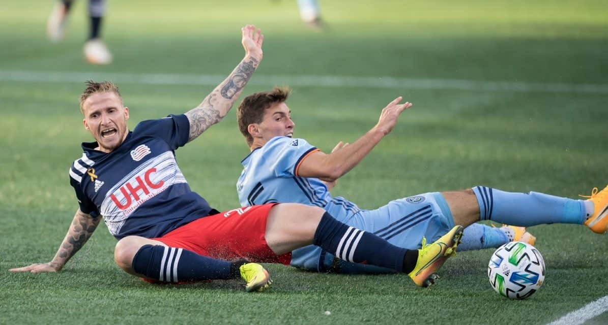 ACQUITTING HIMSELF WELL: Scally makes his first start for NYCFC