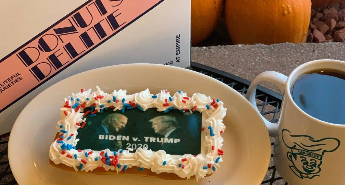 THE DEBATE DONUT: Featuring presidential candidates at Donuts Delite