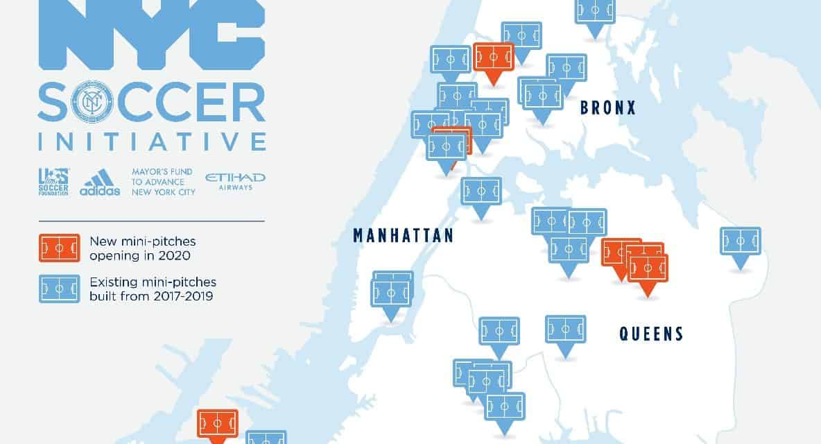 MAKING THEIR PITCHES: NYC Soccer Initiative unveils seven new mini-pitches
