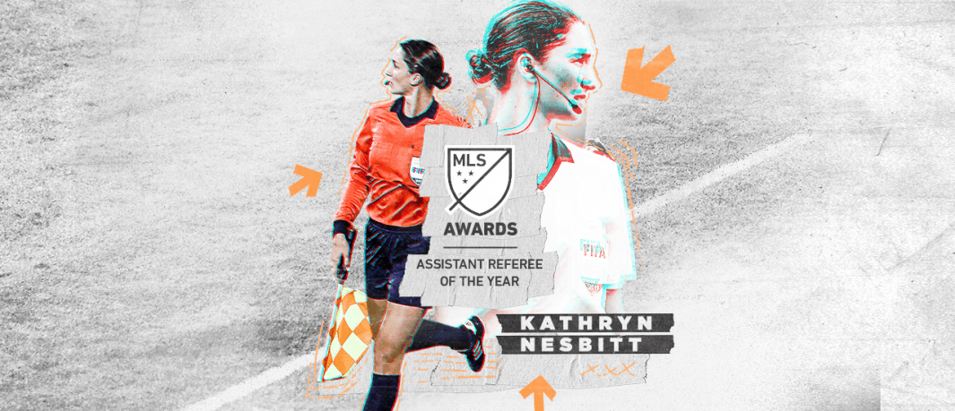 MAKING HISTORY: As MLS assistant referee of year, Nesbitt 1st woman game official to earn honors in 5 pro leagues