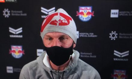 ONE UNUSUAL DEBUT: Struber's takes Red Bulls reins for 1st time in playoff game