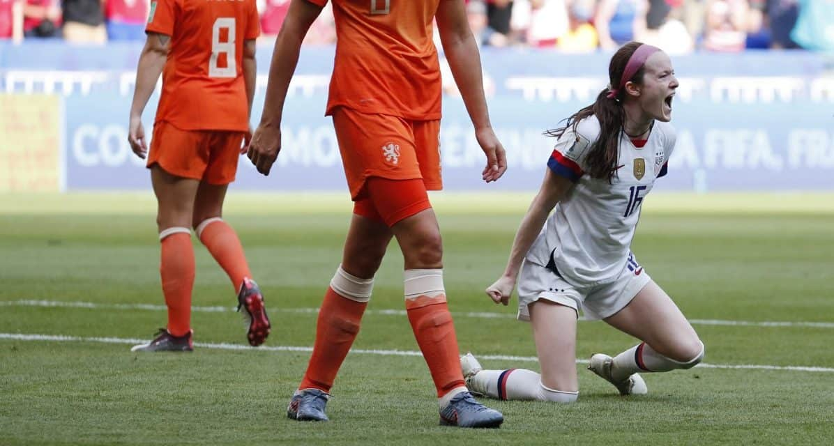 THIS ROSE IS A THORN IN THEIR SIDE: Lavelle gives the USWNT yet another Dutch treat with a goal