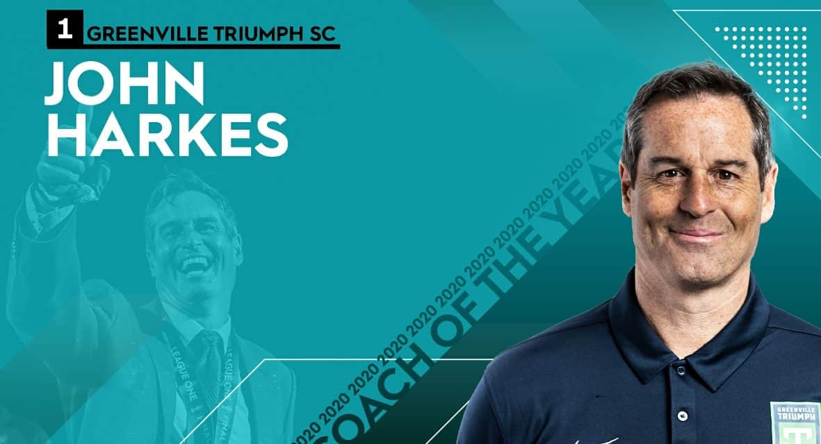 COACH OF THE YEAR: USL League One honors Greenville Triumph's Harkes