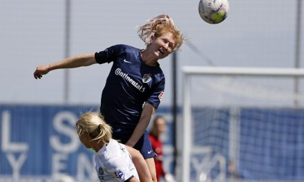 VIDEO: Mewis makes history with her head
