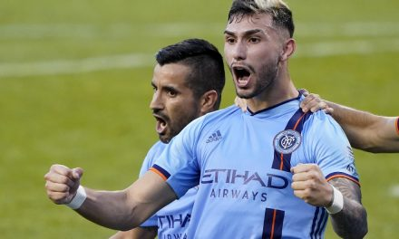 ANOTHER VALENTIN'S DAY: Forward's goal lifts NYCFC over the Fire on Decision Day