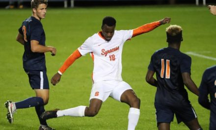 IS NO. 13 A LUCKY PICK?: Red Bulls select SU forward Archimede in MLS draft