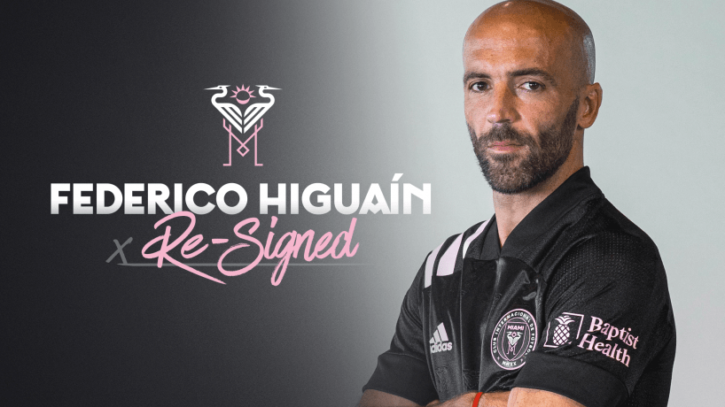 COMING BACK: Inter Miami re-signs Federico Higuaín