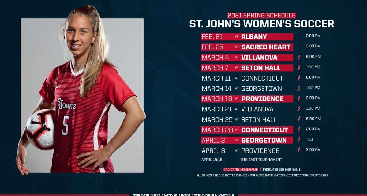 A MONTH AWAY: St. John's women kick off spring season Feb. 21