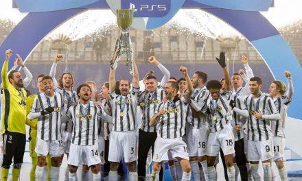 A SUPER CELEBRATION: McKennie wins first trophy in Italy
