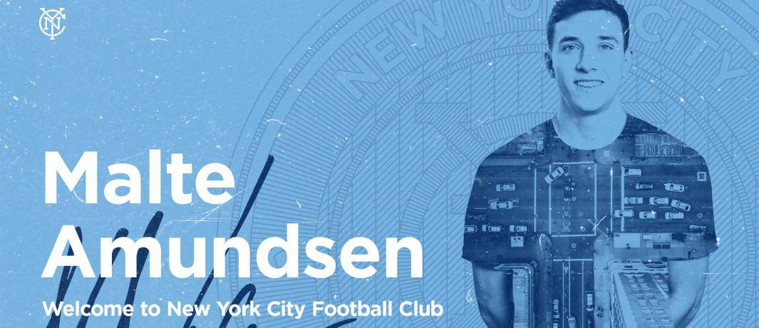 HOPING THEY FOUND A GREAT DANE: NYCFC acquires left back Amundsen