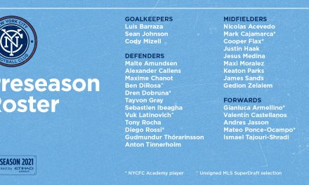 PRESEASON ROSTER: NYCFC will bring 29 players to Florida