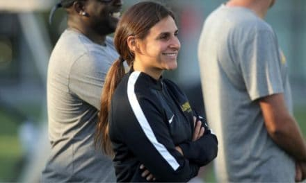 WOMEN'S SOCCER HISTORY MONTH (Day 14): The ultimate Soccer Mom: DeRosa combines motherhood, hitting the books and leading Hofstra women in goals (2007)