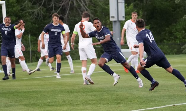 ANOTHER MONMOUTH WIN: Hawks men rally in 2nd half to reach 2nd round of NCAA's