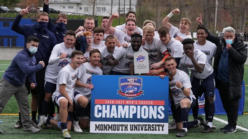 A MONMOUTH STEP: Hawks men book a spot in NCAA tourney by winning MAAC title
