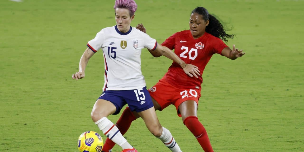 THE STREAK GOES ON: Rapinoe's late PK lifts USWNT into draw with Sweden