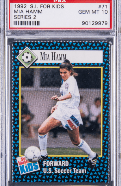 STILL IN THE CARDS: Mia Hamm rookie card brings a record $34,440 at auction