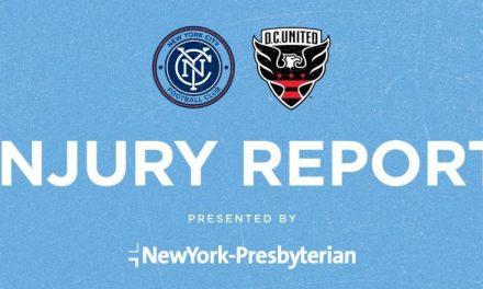 NYCFC INJURY REPORT: Heber still recovering, Callens on international duty