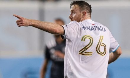 A HAUNTING DEFEAT: Revs' McNamara's late goal dooms his former team, NYCFC, to a loss
