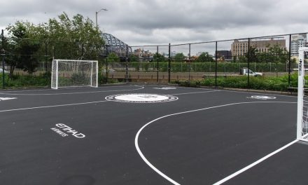 HERE'S THE PITCH: A mini one is built in Harlem