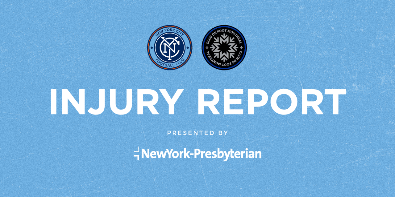 NYCFC INJURY REPORT: Sands, Johnson still on international duty, Heber, Magno are still out