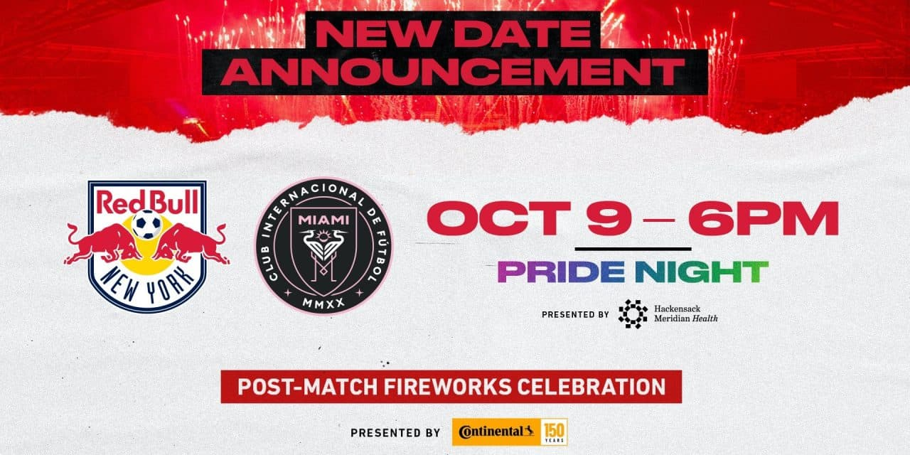 NEW DATE: Red Bulls-Miami match moved to Oct. 9