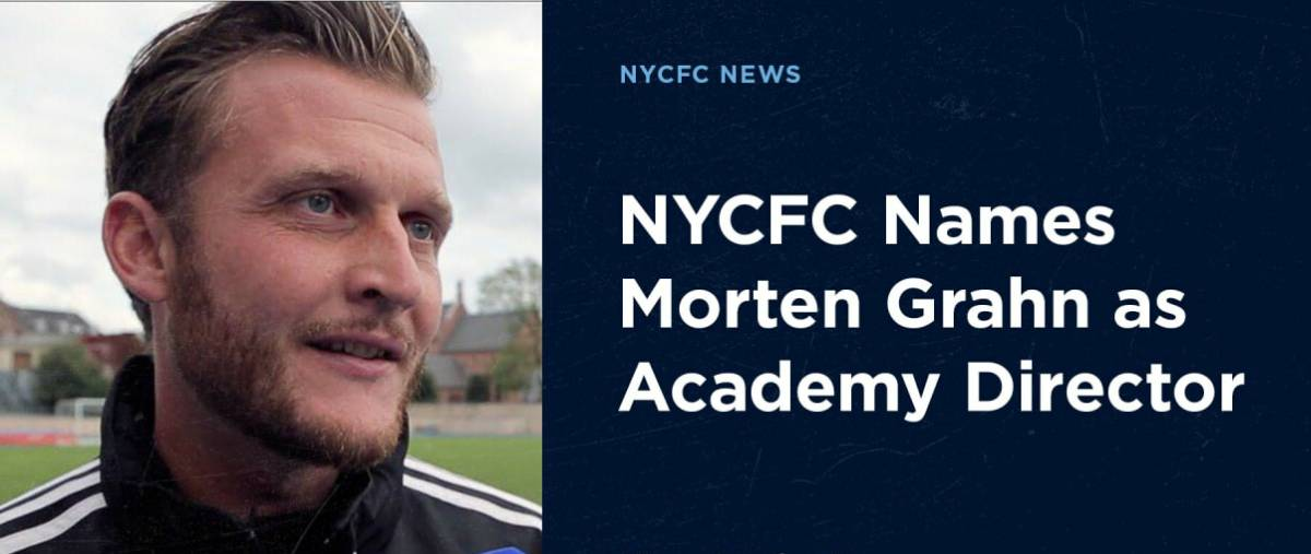 NEW ACADEMY DIRECTOR: NYCFC appoints Danish native Grahn