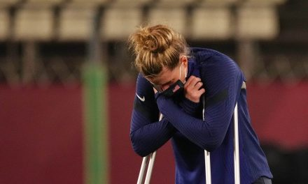 OUT OF THE OLYMPICS: Injury forces Naeher out of bronze medal match