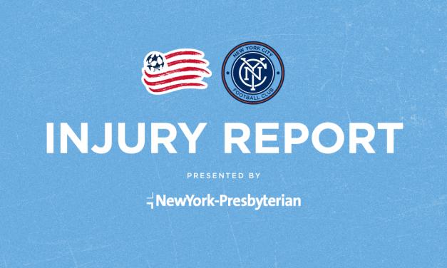 NYCFC AVAILABILITY/INJURY REPORT: Moralez, Medina, Gray are out
