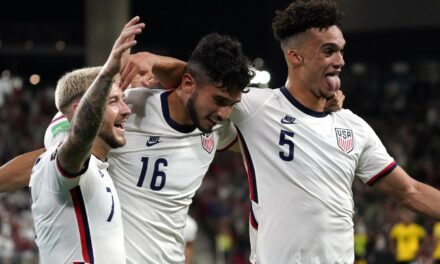 PUTTING THE TEAM ON HIS BACK: 18-year-old Pepi is driving the USMNT train