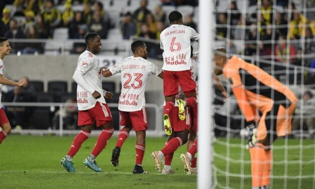 STAYING ALIVE: Nealis' late goal keeps Red Bulls playoff hopes alive with a win in Columbus